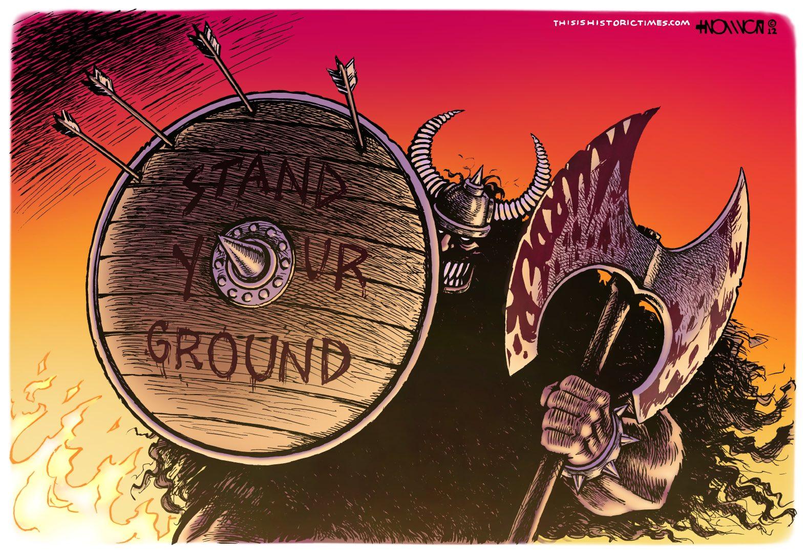 Standing His Ground