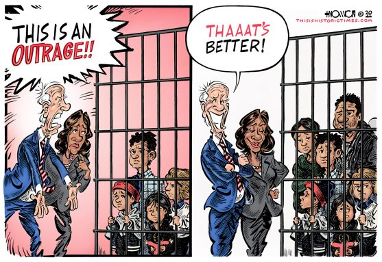 Joe Biden thinks it's ok to lock children in cages as long as their parents are crammed in there with them.